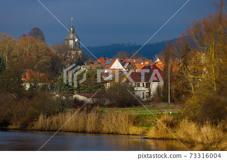 The Village of Herleshausen in Germany	 73316004