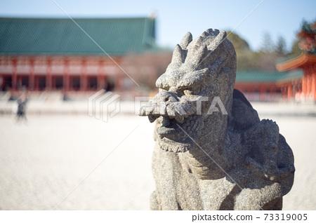 平安神宮地區東部特米祖沙的守護神Souryu石像 73319005