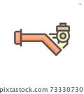Screw pump vector icon 73330730