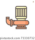 Water pump vector icon or centrifugal pump. 73330732
