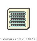 Air compressor or condenser unit icon. 73330733