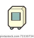 Air conditioner portable type icon. 73330734