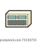 Window conditioner (AC) indoor unit icon. 73330735