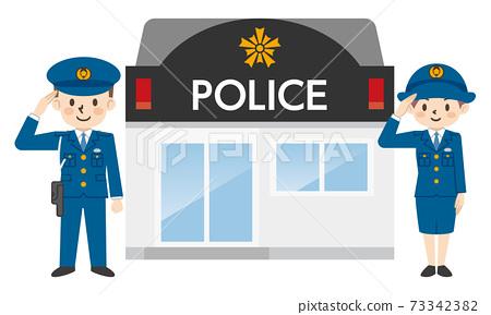 警官和警察敬佩 73342382