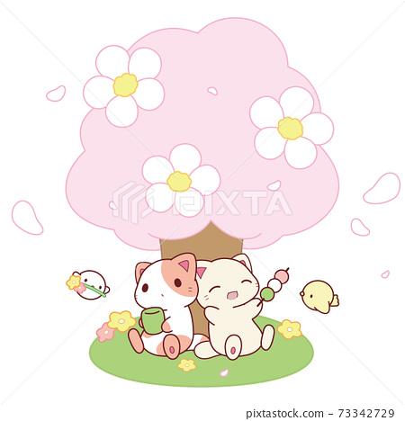 고양이 씨의 꽃놀이 73342729