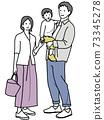 爸爸和媽媽抱著孩子 73345278