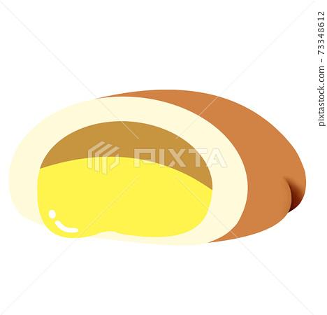 Cream bun bread 73348612