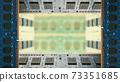 用於台式機的附加內存包圍的框架。董事會副本空間模糊。 8K大小。 73351685