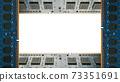 用於台式機的附加內存包圍的框架。白色副本空間。 8K大小。 73351691