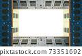 用於台式機的附加內存包圍的框架。白色副本空間。 8K大小。 73351692