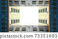 用於台式機的附加內存包圍的框架。白色副本空間。 8K大小。 73351693
