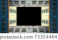 用於台式機的附加內存包圍的框架。黑色副本空間。 8K大小。 73354464