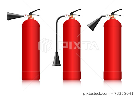 Fire extinguishers vector illustration isolated on white 73355041