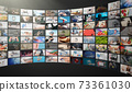 Television streaming, multimedia wall concept 73361030
