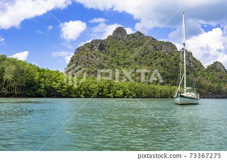蘭開島上美麗的大海 73367275