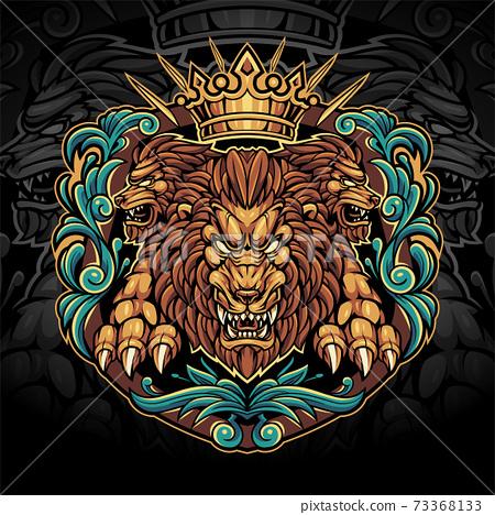 The king lions esport mascot logo design 73368133