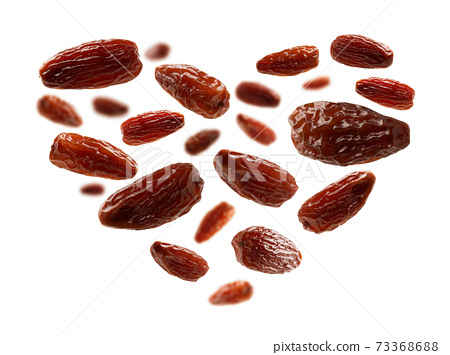 Dates are in the form of heart on white background 73368688