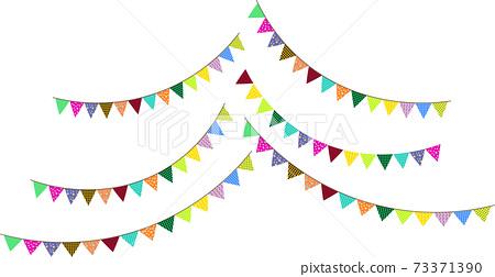 可愛的三角花環國旗 73371390