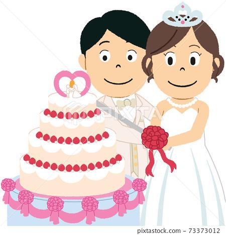 婚禮蛋糕例證 73373012