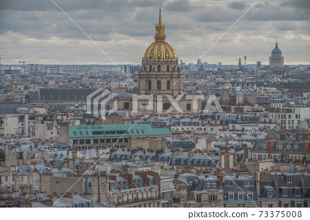top view of the city of paris 73375008