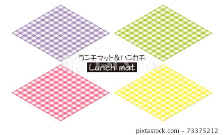 Lunch mat handkerchief check pattern 73375212