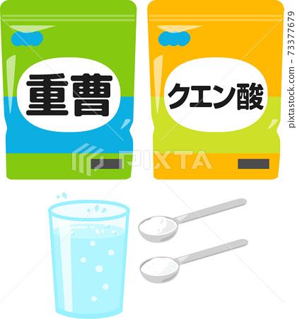 小蘇打,檸檬酸和碳酸水 73377679