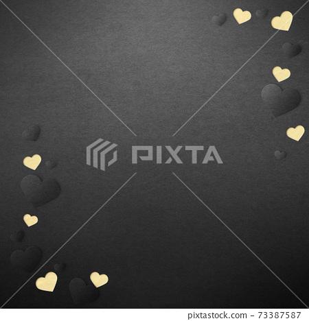 발렌타인 데이 하트 in 하트 종이 공예 인사말 카드 73387587