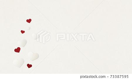 발렌타인 데이 하트 종이 공예 인사말 카드 73387595