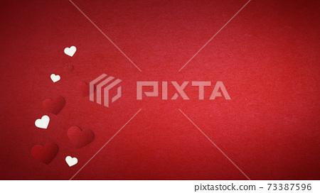 발렌타인 데이 하트 종이 공예 인사말 카드 73387596