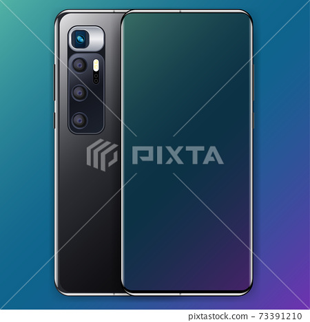 realistic smartphone display 73391210