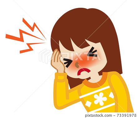 患頭痛的女孩 73391978
