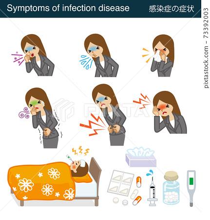 감염의 증상 세트 - 비즈니스 우먼 73392003