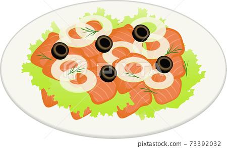 三文魚沙拉 73392032