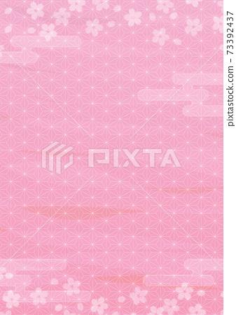 粉色櫻花背景圖肖像 73392437