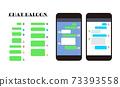 Balloon message communication Messe app smartphone icon set 73393558