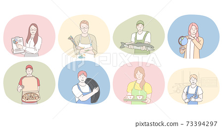 Various professions and occupation concept 73394297