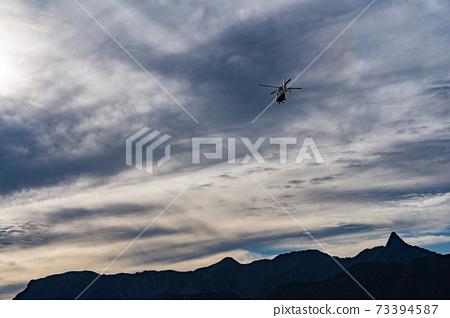 山地救援直升機直升機救援 73394587