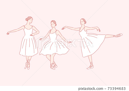 Dancing, ballet, teaching set concept 73394683