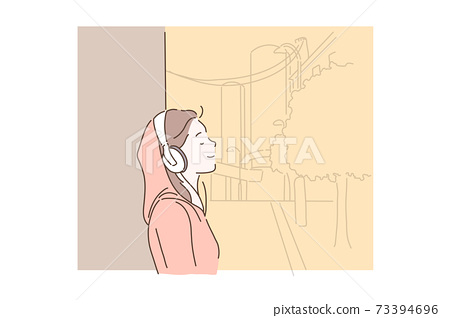 Love of music concept. 73394696