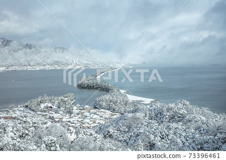 京都府天橋泰特弘觀雪景 73396461