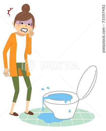 廁所漏水 73397492
