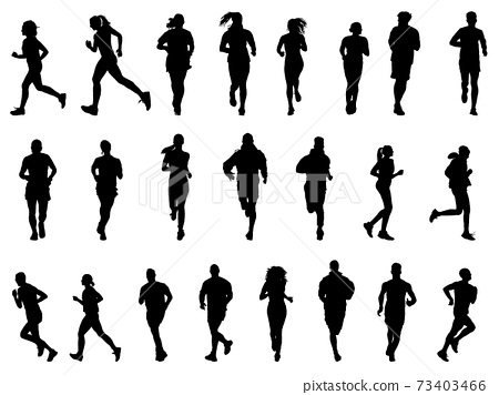 慢跑silhouette_set 73403466