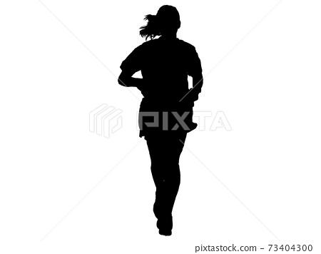 女性剪影jogging_front 1 73404300