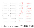 Hand-painted line, ruled line, decorative frame set / simple and easy-to-use material 73404358