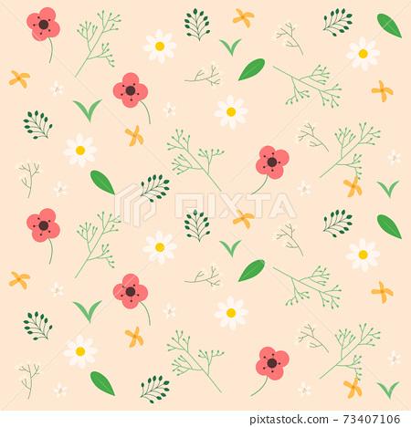 꽃 패턴 벡터 일러스트 73407106