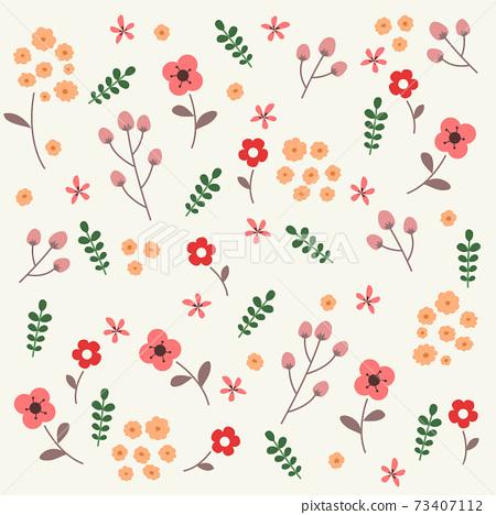 꽃 패턴 벡터 일러스트 73407112