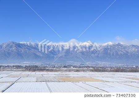 冬天安曇野和北阿爾卑斯山 73407330