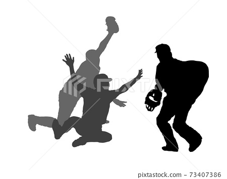 Close play silhouette 73407386