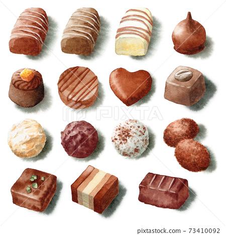 아날로그 수채화 다양한 고급 초콜릿 73410092