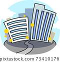 城市建築街道插圖素材 73410176